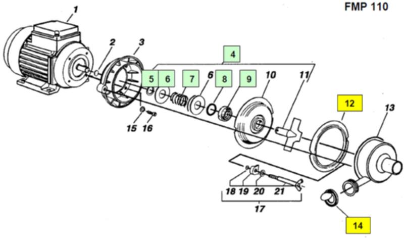Комплект креплений для FMP 55/110